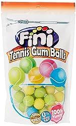 Fini Tennis Balls Bubble Gum Doypack Bags, 180g