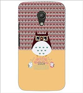 PrintDhaba Kitty D-4582 Back Case Cover for MOTOROLA MOTO G2 (Multi-Coloured)