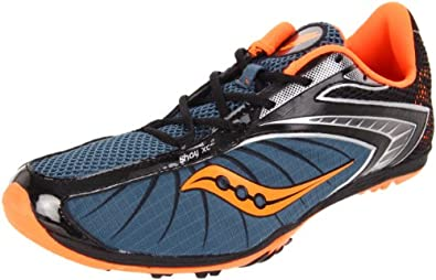 Saucony Men's Shay XC2 20083 Cross-Country Shoe,Blue/Black/Vizipro,7 M US