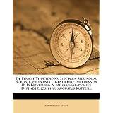 De Pericle Thucydideo: Specimen Secundum, Scripsit...pro Venia Legendi Rite Impetranda D. Ix Novembris A. Mdcccxxxi...