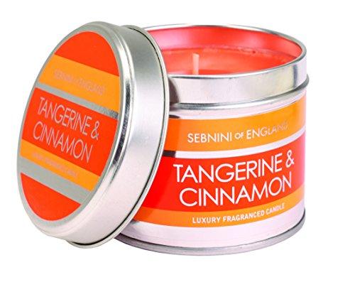 Sebnini Of England Tangerine Cinnamon Scented Candle