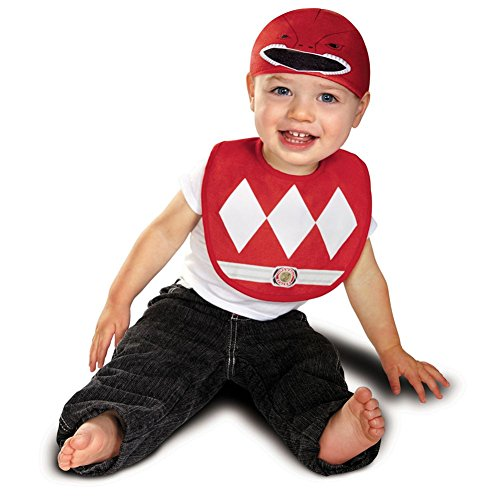 Power Rangers Mighty Morphin Red Ranger Infant Bib with Hat