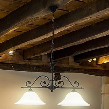 LED Landhaus-Stil Decken Pendel Hänge Büro Lampe Leuchte Beleuchtung 2x 10 Watt