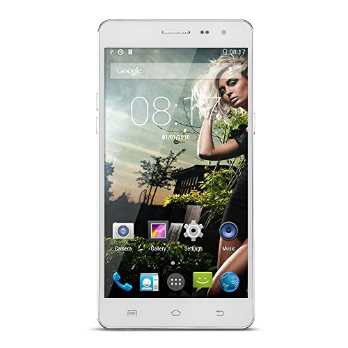 "Unlocked Smartphone UHAPPY UP550 5,5"" Quad-Core 1,3GHz 5MP+13MP Dual Kamera 1GB RAM+16GB ROM Android 4.4 Handys ohne Vertrag 5,5 Zoll HD Kapazitiver BildschirmBluetooth 4.0 A-GPS WiFi Weiß EU Standard"