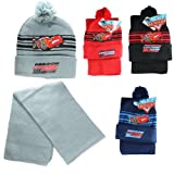 Disney Pixar Lightning McQueen Car Knit Ski Hat and Scarf for Kids