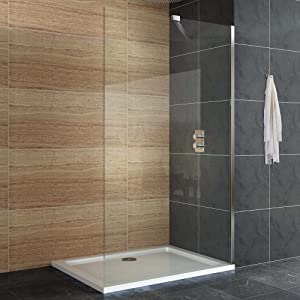 Designer wet room 700mm easy clean shower enclosure glass for Wet room shower tray for vinyl