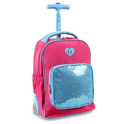 j-world-new-york-sparkle-kids-rolling-backpack-pink