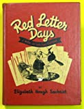 img - for red letter days, a book of holiday customs book / textbook / text book