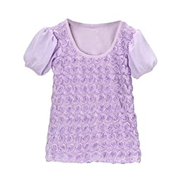 Lavender Rosette Top Size 3