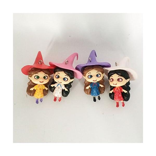 2 Inch Halloween Witches Resin Miniature Terrarium Fairy Garden Doll