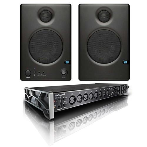 """Tascam US-16x08 16x8 Channel USB Audio Interface - Bundle with PreSonus Ceres C3.5BT Two-Way 3.5"""" Powered Studio Speaker with BT Pair"""