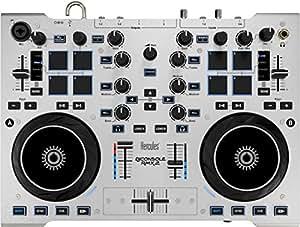 Hercules DJ CONSOLE RMX2 - Contrôleur DJ métal robuste avec audio professionnel - Table de mixage 2 platines avec pads sensitifs - Gris