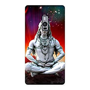 Delighted Shiva Yog Back Case Cover for OnePlus Two