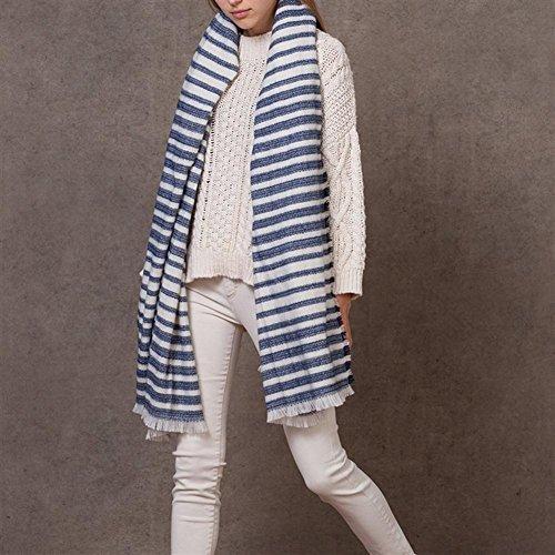 Frauen herbst und winter warm einfachheit blauen und - Schal binden mann ...