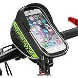 自転車フレームバッグ MOREZONE 5.5インチ以下の各種スマホホルダー フロントバッグ iphone6S/5S対応 サイクル サドルバッグ 収納