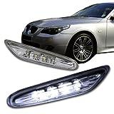 2003 - 2009 BMW E60 5 Series Clear Lens White LED Side Marker Light