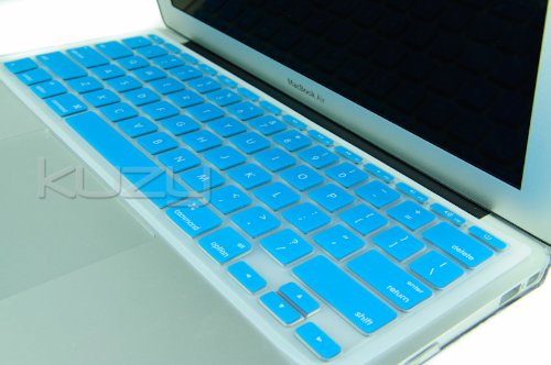Kuzy - AIR-11inch AQUA BLUE Keyboard Cover Silicone Skin for MacBook Air 11.6