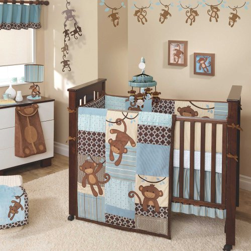 Giggles 6 Piece Baby Crib Bedding Set With Bumper By Lambs & Ivy