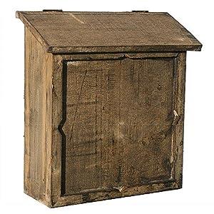 landhausstil briefkasten altes holz antik finish amazon. Black Bedroom Furniture Sets. Home Design Ideas