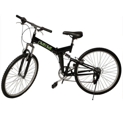 Cheapest Price! New 26 Folding 6 Speed Mountain Bike Bicycle School Sport Black Shimano Parts