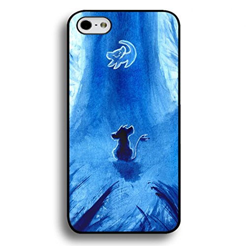 Customized Disney Cartoon The Lion King Phone Case Black Hard Plastic Back Case Cover For Iphone 6/6S