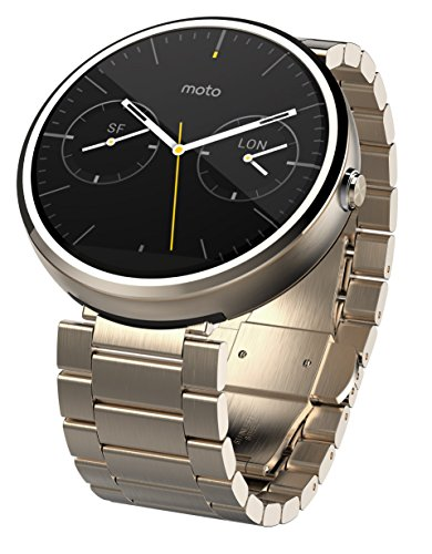 Motorola Moto 360 - Champagne Gold Metal, 23mm, Smart Watch
