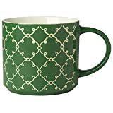 Green Textured Tile Mug