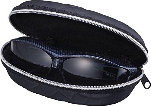 AXE(アックス)サングラスUVカット偏光レンズ大型メガネ着用可能収納ケース付カーボンブラックSG-605PCS