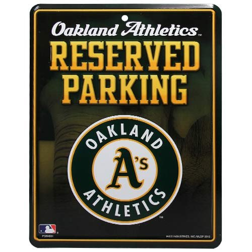 MLB Oakland Athletics Parking Sign