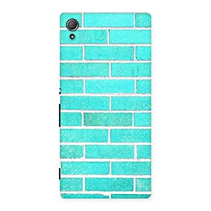 Gorgeous Brick Cyan Back Case Cover for Xperia Z4