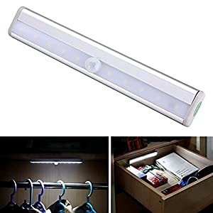 ICOCO Motion Sensor Cabinet Light for Wardrobe, Closet, Attics, Hallway, Washroom
