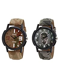 Relish Black Analog Round Casual Wear Watches For Men - B019T7L9FO