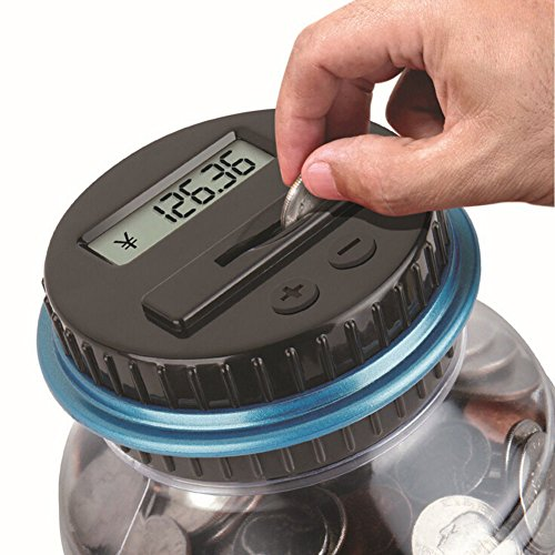 Electronic Digital Coin Counter Piggy Bank Counting Saving Jar LCD Change Sorter (Big Change Jar compare prices)