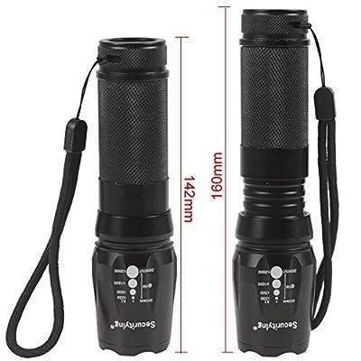 ANJALIA 2000 Lumen Cree XM-L T6 Flashlight
