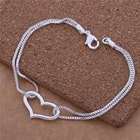 Fashion Beautiful 925 Silver Cuff Bracelet,for Women, Teen Girls, Young Girls, and Men + Gift Bag from Tianhong