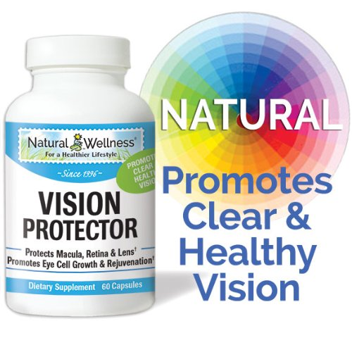 Eye And Vision Protector By Natural Wellness - Protects, Support And Improves Eye And Vision - 60 Capsules