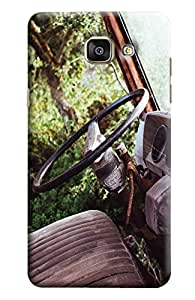 Blue Throat Old Car Steering Printed Designer Back Cover/Case For Samsung Galaxy A5 2016