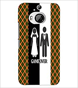 PrintDhaba Couple D-3991 Back Case Cover for HTC ONE M9 PLUS (Multi-Coloured)