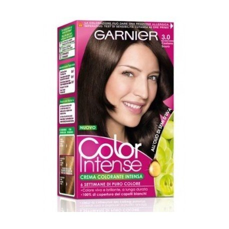 Garnier Garnier Color Intense Colorazione Permanente in Crema, 3.0 Castano Scuro