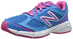 New Balance KJ514 Youth Lace Up Running Shoe, Blue/Pink, 12 W US Little Kid