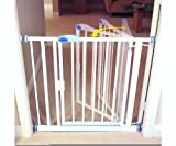 Bettacare - Auto Close White Pressure Fit Stair Gate Extra Narrow 61 - 67.5 cm