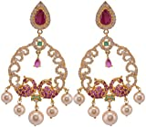 Violet & Purple Gold Plated Dangle & Drop Earrings For Women (1000031059)