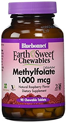 buy Bluebonnet Earth Sweet Cellular Active Methylfolate 1000 Mcg Chewable Tablets, 90 Count