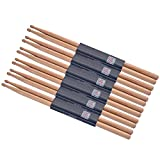 Durable Oak Wood 5A Drumsticks 6 Pairs (6 Pairs)