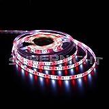 SINOLLC Flexible RGBW LED Strip Lights 5M 5050 300 LEDs RGB Daylight White IP65 Waterproof Outdoor Strip Lights RGB+White Color Changing LED Strip Light with 40-Key RGBW LED Controller -White Tape Version