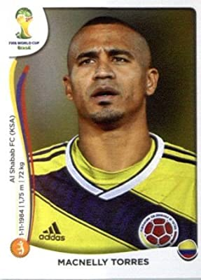 2014 Panini World Cup Soccer Sticker # 197 Macnelly Torres Team Columbia