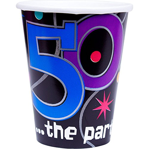 50 the Party Continues Paper Cups Package of 8