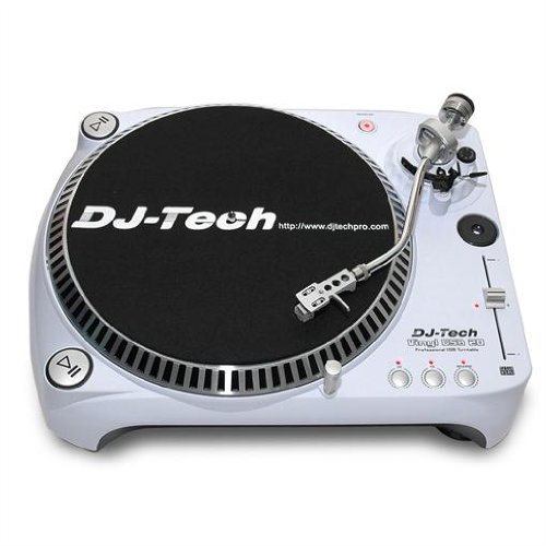 dj tech usb dj plattenspieler turntable weiss white. Black Bedroom Furniture Sets. Home Design Ideas