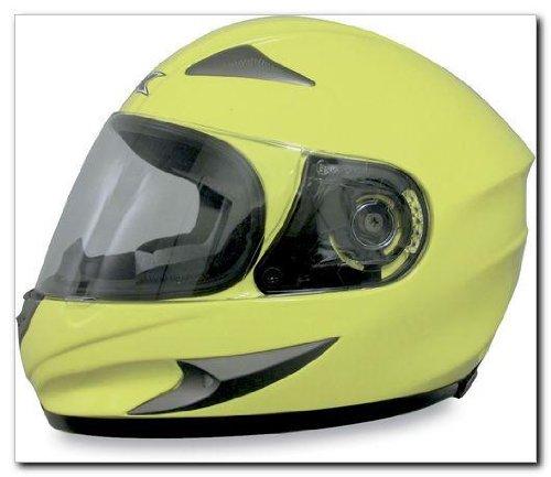AFX FX-90 Solid Helmet , Size: 2XL, Distinct Name: Hi-Viz Yellow, Primary Color: Yellow, Gender: Mens/Unisex, Helmet Type: Full-face Helmets, Helmet Category: Street 0101-5747