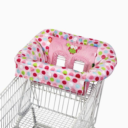 Taggies Tag N Go Cart Cover Pink Owl front-707723